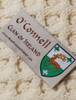 O'Connell Clan Aran Bed Runner - Label
