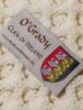 O'Grady Clan Aran Bed Runner - Label