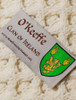 O'Keeffe Clan Aran Bed Runner - Label