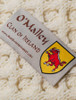 O'Malley Clan Aran Bed Runner - Label