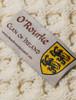 O'Rourke Clan Aran Bed Runner - Label