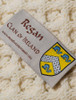 Regan Clan Aran Bed Runner - Label