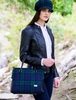 Emily Tweed & Leather Bag - Blackwatch