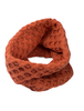 Aran Snood Scarf - Chili Pepper