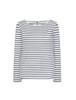Causeway Long Sleeved T-Shirt - Cloud Stripe
