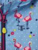 Olivia Girls Waterproof Coat - Flamingo print