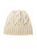 Men's Aran Super Soft Merino Wool Hat - Natural White