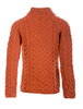 Women's Aran Cable Crew Neck Sweater - back