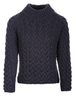 Women's Aran Cable Crew Neck Sweater - Derby