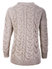 Super Soft V- Neck Chunky Cable Knit Cardigan- Back