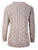 Super Soft V- Neck Chunky Cable Knit Cardigan- Back