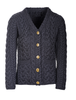 Super Soft V-Neck Button Up Cable Knit Cardigan - Derby