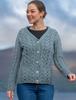 Super Soft V-Neck Button Up Cable Knit Cardigan - Misty Marl