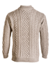 Mens Super Soft Half Zip Aran Troyer - Back Detail
