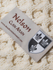 Nelson Clan Aran Scarf - Label
