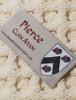 Pierce Clan Aran Throw - Label