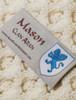 Mason Clan Scarf - Label