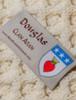 Douglas Clan Aran Throw - Label