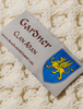Gardner Clan Aran Throw - Label