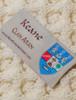 Keane Clan Aran Throw - Label