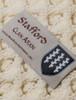 Stafford Clan Aran Throw - Label