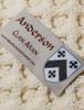 Anderson Clan Aran Throw - Label