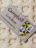 Campbell Clan Aran Throw - Label