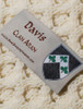 Davis Clan Aran Throw - Label