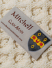 Mitchell Clan Aran Throw - Label