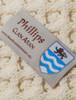 Phillips Clan Aran Throw - Label