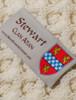 Stewart Clan Aran Throw - Label