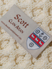 Scott Clan Aran Throw - Label