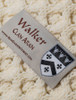 Walker Clan Aran Throw - Label