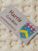 Harris Clan Aran Throw - Label
