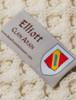 Elliot Clan Aran Throw - Label