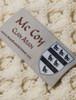 Mc Coy Clan Aran Poncho - Label