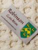 Robinson Clan Aran Throw - Label