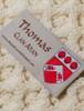 Thomas Clan Aran Throw - Label