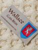 Wallace Clan Aran Throw - Label