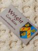 Wright Clan Aran Throw - Label