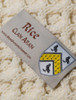 Rice Clan Aran Throw - Label