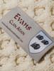 Evans Clan Aran Throw - Label