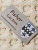 Fisher Clan Aran Throw - Label