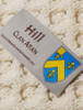 Hill Clan Aran Throw - Label