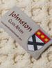 Johnston Clan Aran Throw - Label