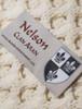 Nelson Clan Aran Throw - Label