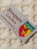 Simpson Clan Aran Throw - Label