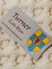 Turner Clan Aran Throw - Label