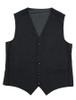 Donegal Tweed Waistcoat - Black Twill