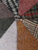 Donegal Tweed 8 Piece Panel Cap - Patchwork - Detail